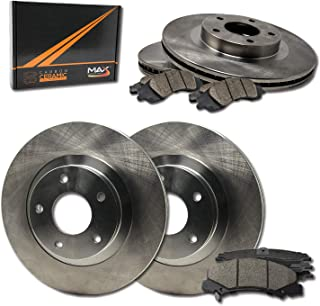 Max Brakes Front & Rear Premium Brake Kit [ OE Series Rotors + Ceramic Pads ]