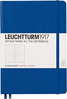 Leuchtturm 1917, taccuino (A5), copertina rigida, 249 pagine A puntini Dotted blu reale