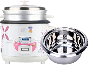 Rice Cooker 2L-6L Household Rice Cooker Mini Stainless Steel Rice Cooker Household Old-fashioned Multifunctional Rice Cook...