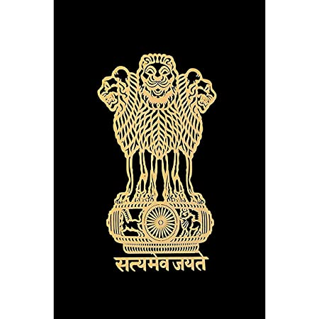 NEWERA International Satyamev Jayate 24K Gold Metal 3D Stickers for Mobile, Laptop, Computer, Refrigerator, Home Door, Notebook (Golden Pack of 1)