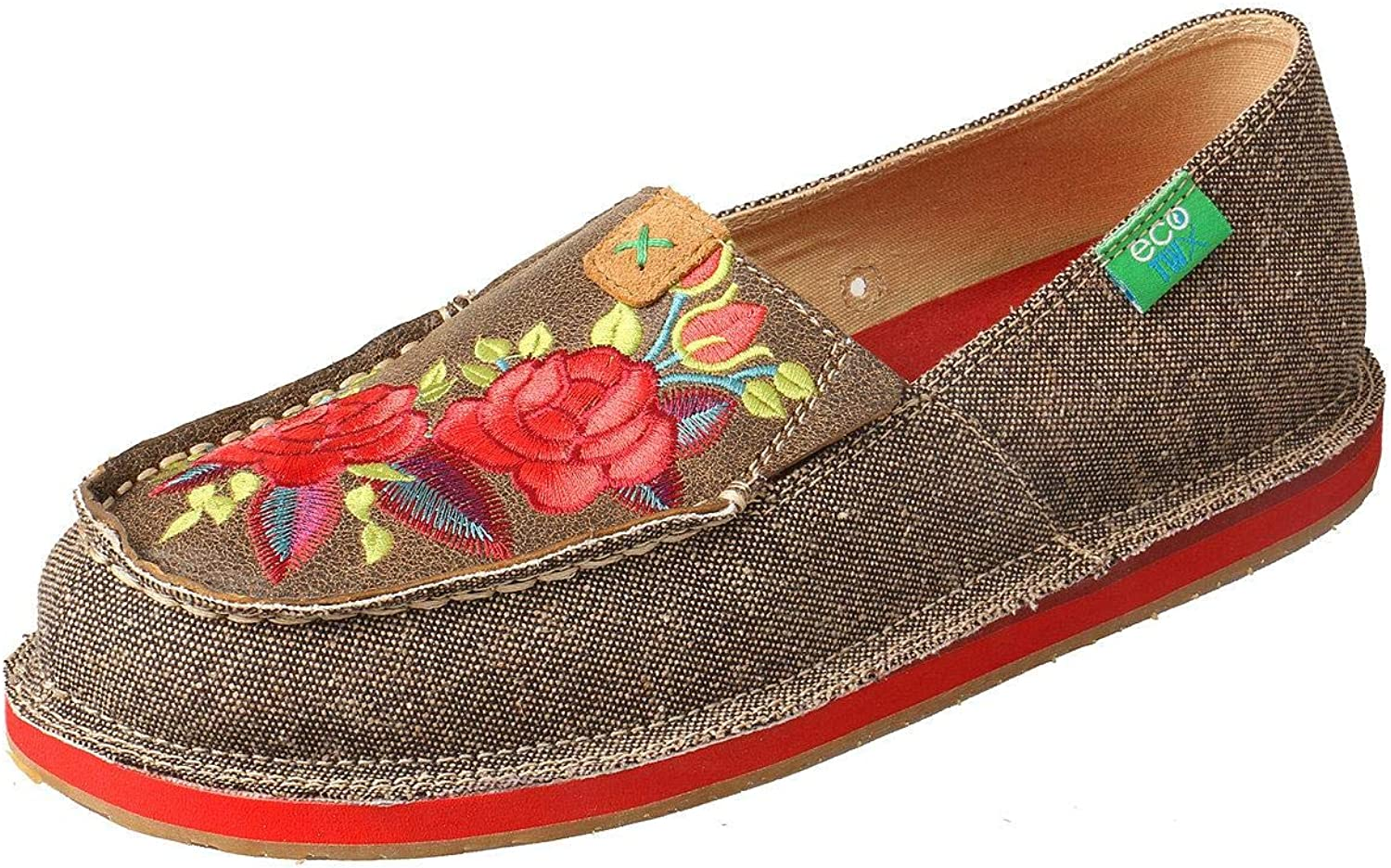 Twisted X Women's Floral Moccasin Loafers Moc Toe