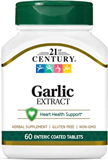 21st Century Garlic (odorless) Tablets, 60 Count (21840)