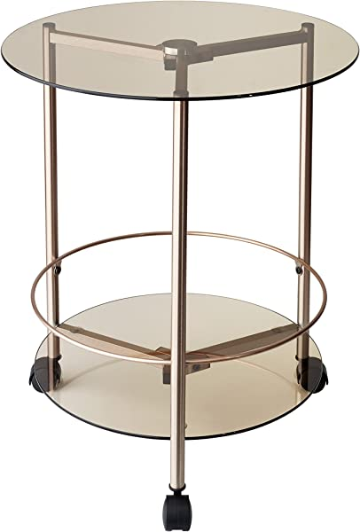 Adesso WK2082 20 Gibson Rolling End Table