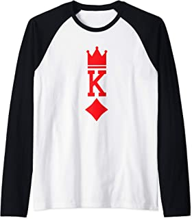 King of Diamonds Playing Card Halloween Costume Raglan Baseball Tee