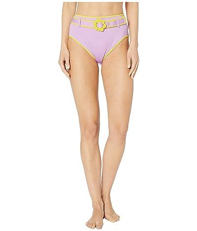 Kate Spade New York Daisy Buckle High-Waist Bikini Bottoms (Candied Lilac) Women