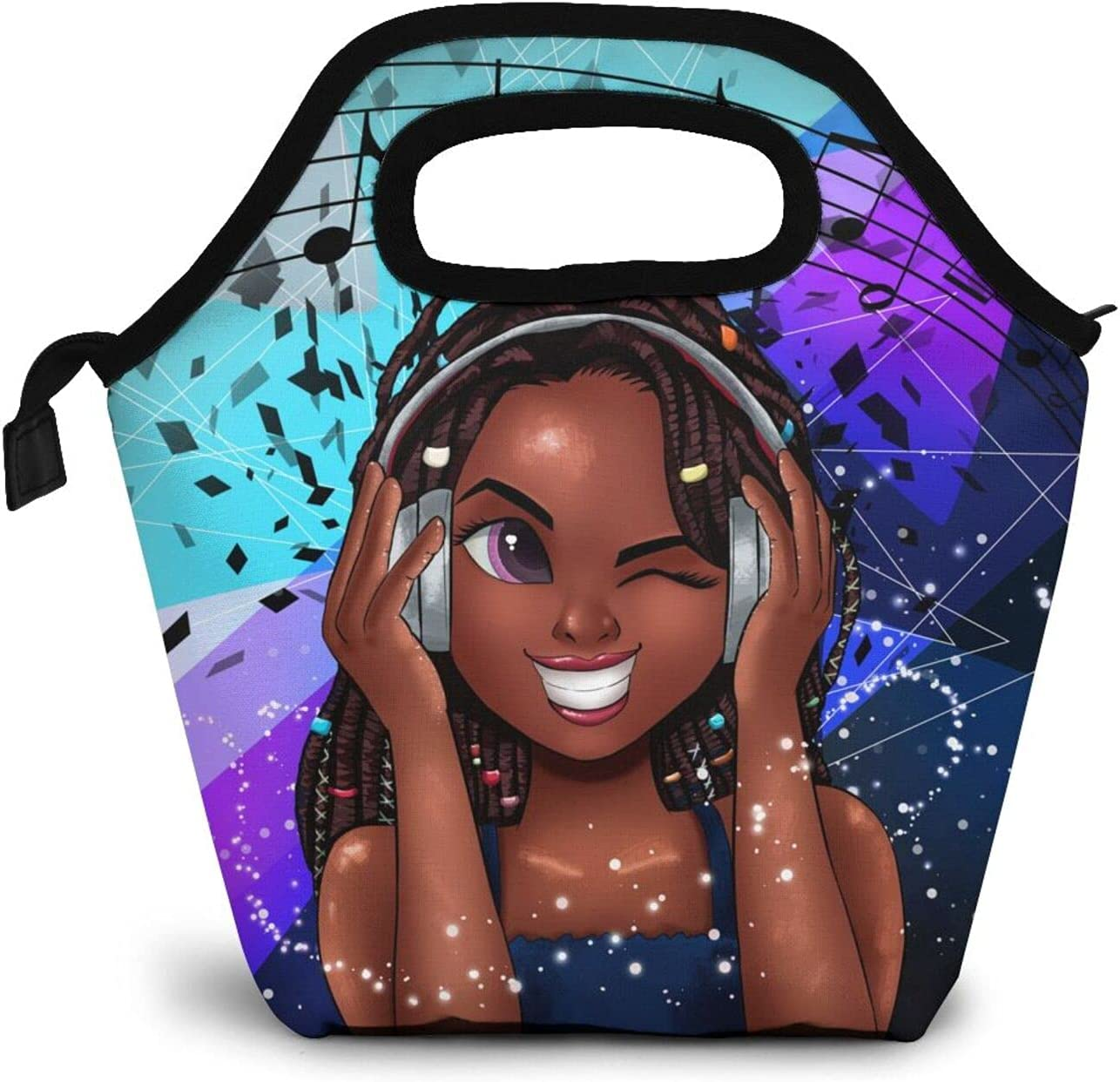 EZYES Black Girl Reusable Lunch Women African Bag Classic American Ranking TOP13 Tote