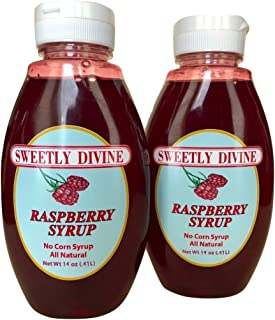 Sweetly Divine Natural Fruit Flavored Raspberry Syrup for Coffee, Pancakes, Waffles, Ice Cream - Healthy and Great Tasting...