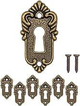 FUXXER® - 6 x antieke sleutelborden, slotrozetten, slotbeslag, afdekking voor sloten, sleutelgat, klassiek design, set van...
