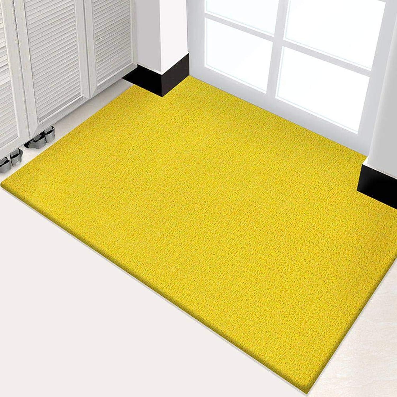 Indoor Outdoor Doormat, PVC Non-Slip Backing Cleanable Waterproof Low Profile Pad for Entrance, Front Door, Kitchen, Hallway and Garage-yellow-100x120Cm(39x47Inch)