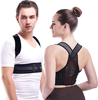 Invisible Posture Corrector for Women, Men,and Kids, Ultra-Lightweight Back Brace for Spinal Lumbar Support, Pain Relief for Neck, Back, Shoulders (L, Waistline 32-39in)