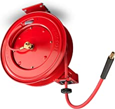 TEKTON 50-Foot x 3/8-Inch I.D. Auto Rewind Air Hose Reel with USA-Made Rubber Air Hose..