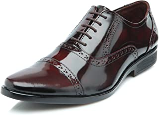 Heels & Shoes Men's Brogue Natural Leather Shoes - Cherry