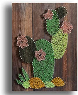 Sprezzy String Art Craft Home Decor Winding Paintings Cactus Handmade Decoration Picture Frame
