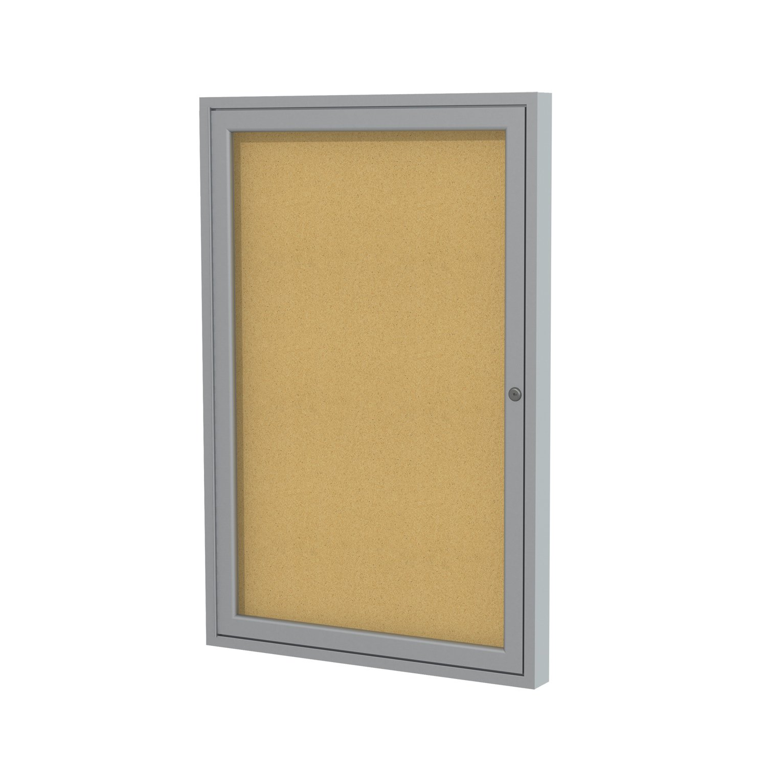 Ghent Enclosed Bulletin Resistant Aluminum