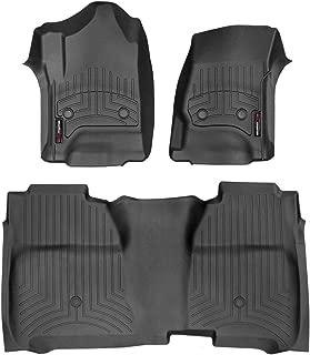 WeatherTech Custom Fit FloorLiner for Silverado/Sierra Crew Cab - 1st & 2nd Row (Black)
