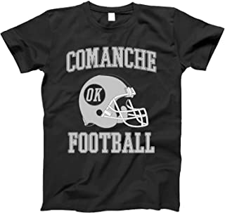 4INK Vintage Football City Comanche Shirt for State Oklahoma with OK on Retro Helmet Style
