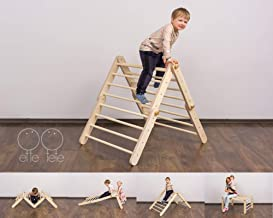 Modifiable Pikler triangle Mopitri,WITHOUT RAMP, climbing ladder for kids, foldable triangle