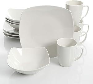 Gibson Home Zen Buffetware 12 Piece Dinnerware Set, White
