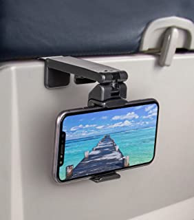 Universal Airplane in Flight Phone Mount. Handsfree Phone Holder for Desk with Multi-Directional Dual 360 Degree Rotation....