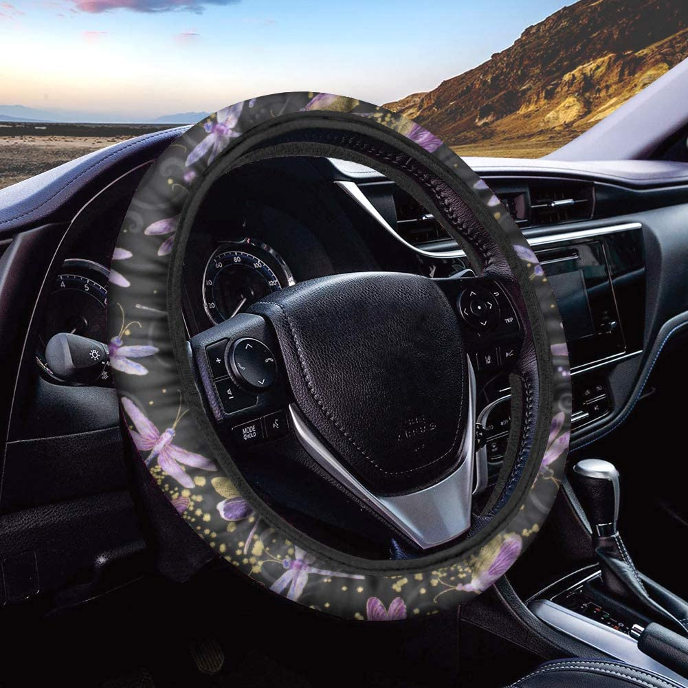 ZERODATE Personalized Pink Dragonflies Protector Steering Wheel Max 63% Attention brand OFF