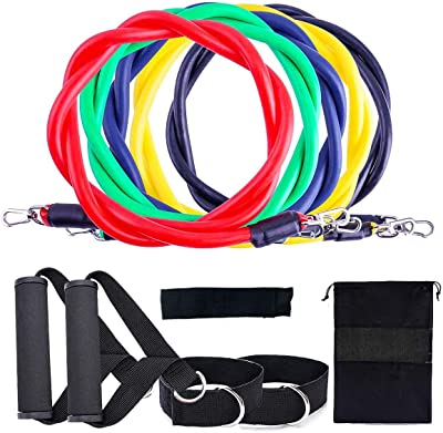 eTongtop Resistance Bands Set for Home Workout Fitness Exercise Bands,Exercise Workout Bands with Handles for Women & Men