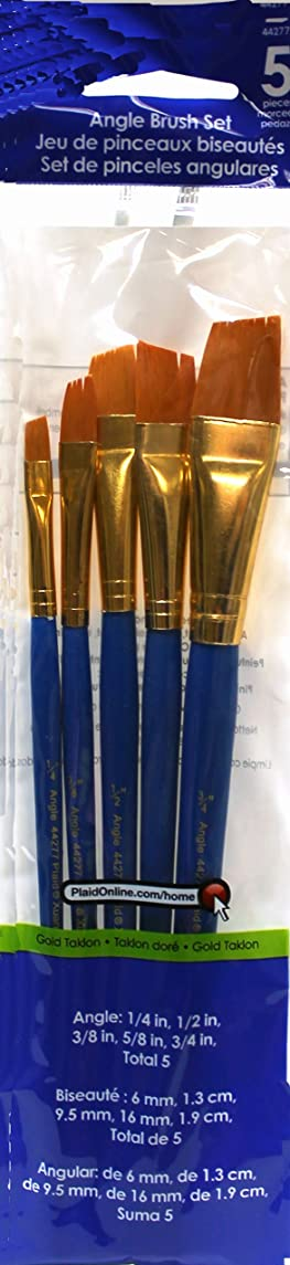 Plaid Angle Brush Set, 44277 (5-Piece)