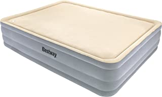 Bestway 67486 - Cama doble Hinchable Raised Foamtop Comfort (203 x 152 x 46 cm) Superficie flocada e inflador incorporado