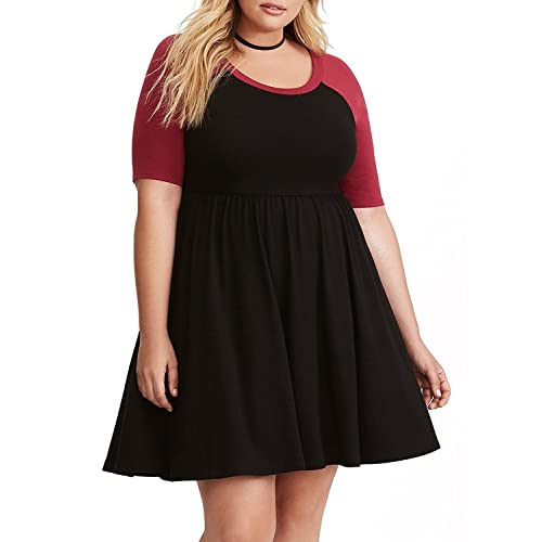 Plus Size Skater Dress: Amazon.com