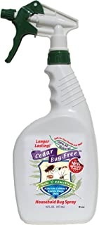 Bug Spray and Insect Repellent - Cedar Bug-Free Bug Spray. Kills Roaches and Spiders - 16 oz