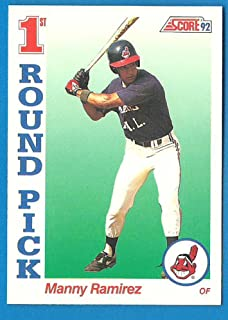 1992 Score MANNY RAMIREZ Rookie Baseball Card #800 - Indians Red Sox A's - E