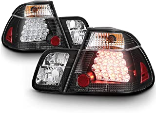 ACANII - For 2002-2005 BMW E46 3-Series 4-Door Sedan Black Lumileds LED Tail Lights Brake Lamps Driver & Passenger