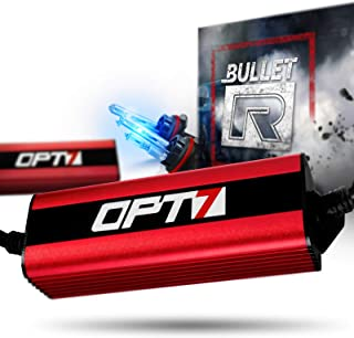 OPT7 Bullet-R 9007 Hi-Lo HID Kit - 3X Brighter - 4X Longer Life - All Bulb Sizes and Colors - 2 Yr Warranty [10000K Deep Blue Xenon Light]