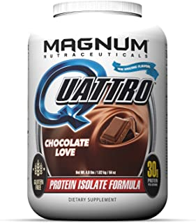 Magnum Nutraceuticals Quattro Chocolate Love Lactose-Free Protein Powder for Men & Women (4 lbs.)