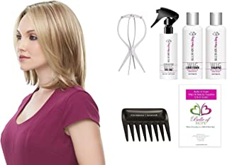 Cameron Petite - Syn. Smartlace Lace Front Single Mono HandTied Wig by Jon Renau,Wig Stand,Comb, MaraRay 4oz Luxury Detangler Kit,Belle of Hope 19pg Wig Care Booklet-7pc Bundle (12FS8)