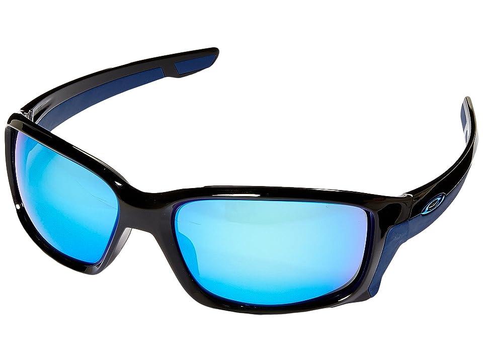 Oakley Straightlink (Polished Black/Sapphire Iridium) Fashion Sunglasses