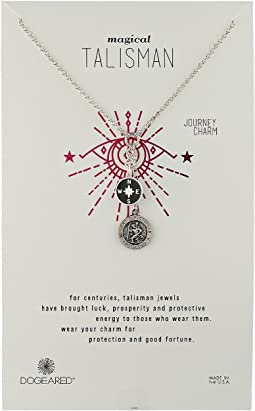 Dogeared - Small Compass Black Enamel Cluster Talisman Necklace