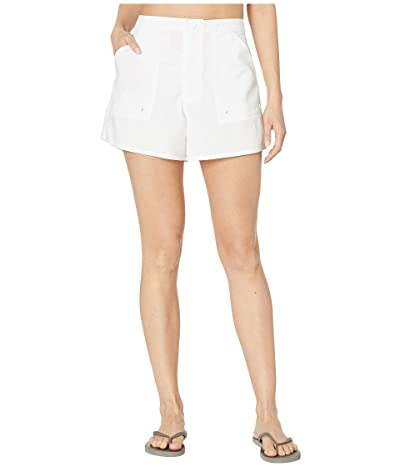 Maxine of Hollywood Swimwear Solids Woven Boardshorts (White) Women