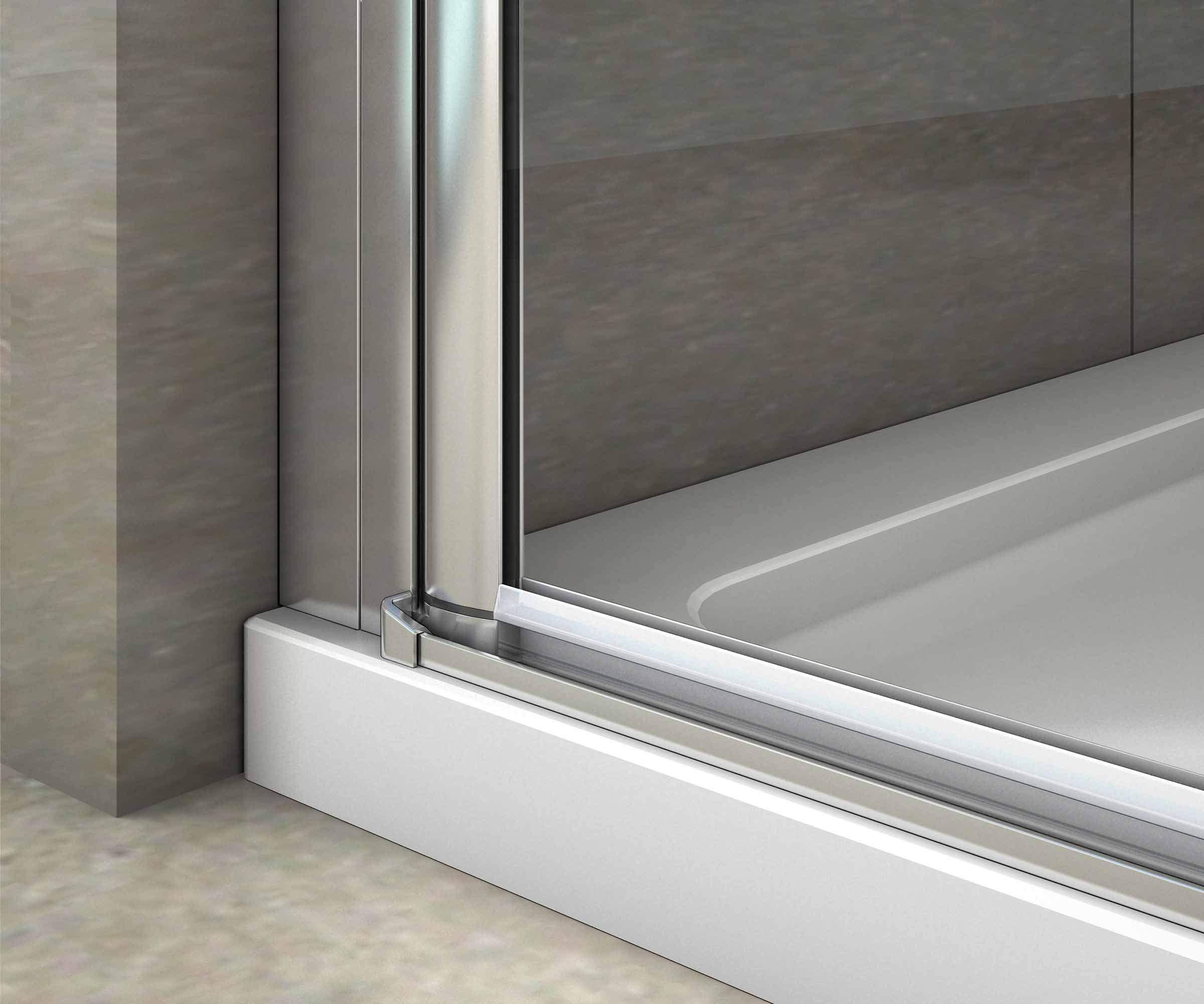Mampara de Ducha Puerta Abatible Frontal Vidrio Nano Antical 6 MM 70x195cm