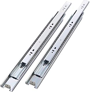 Silver GlideRite Hardware 1635-ZC-1 16 inch 70 lb 35mm 1 inch 1 Pack 16 Side Mount Full Extension Drawer Slides with 1 Over-Travel