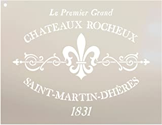 Chateaux Rocheux Saint-Martin-Dheres Stencil by StudioR12 | French Stone Manor Art Reusable Mylar Template | Painting, Cha...