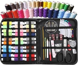 XWU 98 pçs/set Kit de costura Linha de costura Suprimentos de costura premium, Cores mais úteis, Reparos de emergência, Vi...