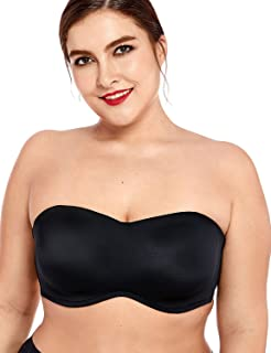 75937252a DELIMIRA Women s Smooth Seamless Invisible Underwire Strapless Minimizer Bra