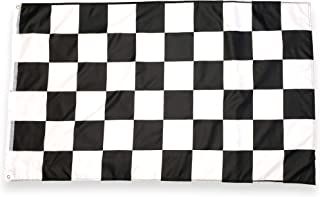 High Supply 3x5 Foot Checkered Flag with Double Stitched Edges, Two Brass Grommets, and 100% Polyester Fabric Flag for Racing, Finish Line Flag, Race Flag 3x5 Racing Flag, 3x5 Checkered Flags