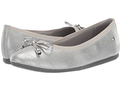 Hush Puppies Kids Josie Flat (Little Kid/Big Kid) (Silver) Girls Shoes