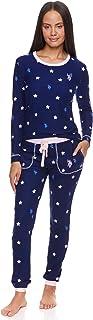 Womens Pajamas Set with Pockets - Long Sleeve Shirt and...