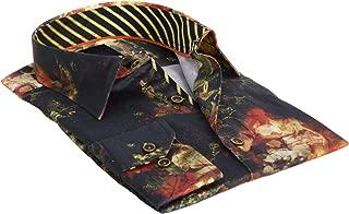 Liberia Green and Yellow Men's Designer Dress Shirt