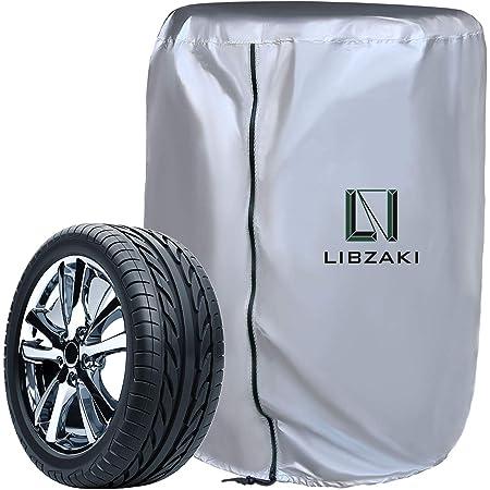 LIBZAKI タイヤカバー 屋外 210D 厚手 収納カバー 幅73×高さ110 雨よけカバーM 【2020改良】