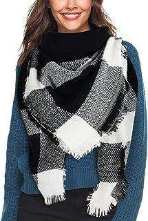 Unisex Winter Weich Fleece Schal Doppellagig Gestrickt Schal Halswärmer Schals B
