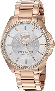 coach rose gold watch