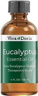 Viva Doria 100% Pure Eucalyptus Globulus Essential Oil, Undiluted, Therapeutic Grade, 118 mL (4 Fl Oz)